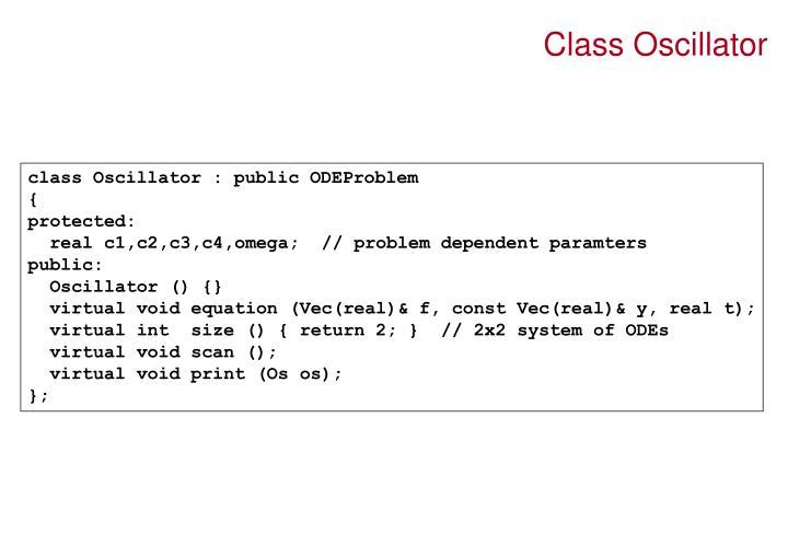 Class Oscillator