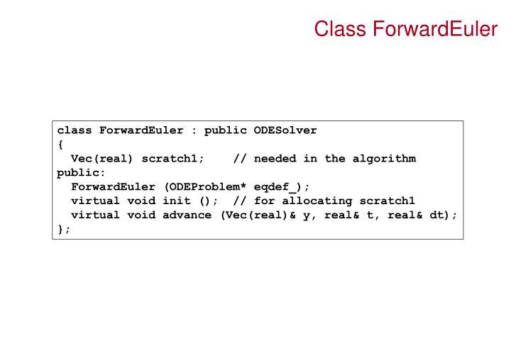 Class ForwardEuler