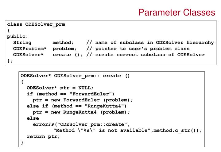 Parameter Classes