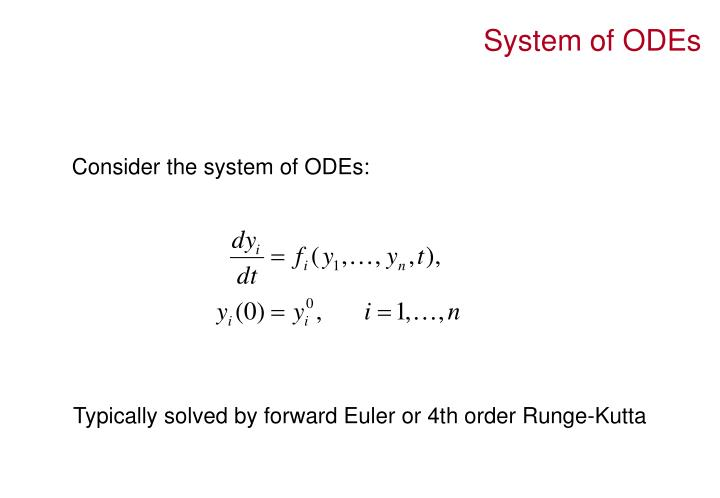 System of ODEs