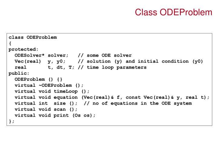 Class ODEProblem