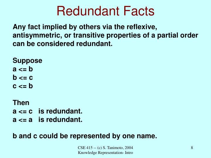 Redundant Facts