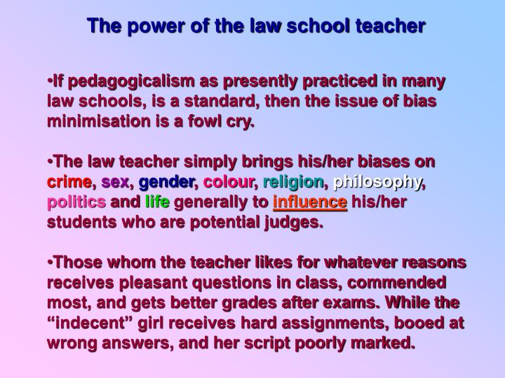 The power of the law school teacher