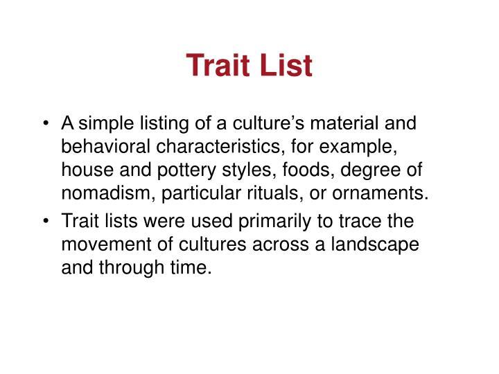Trait List