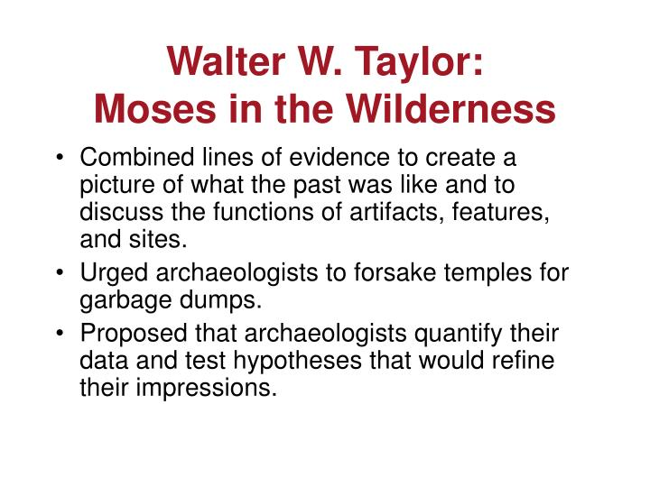 Walter W. Taylor: