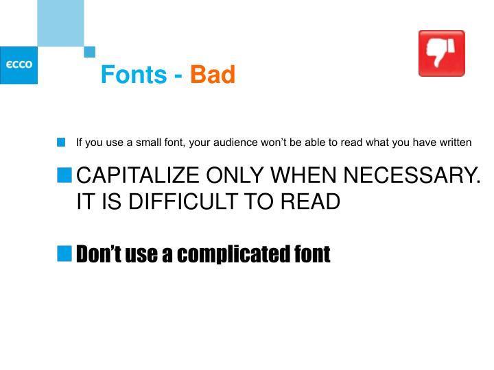 Fonts -