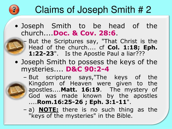 Claims of Joseph Smith # 2