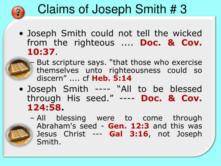 Claims of Joseph Smith # 3