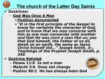 the church of the latter day saints7