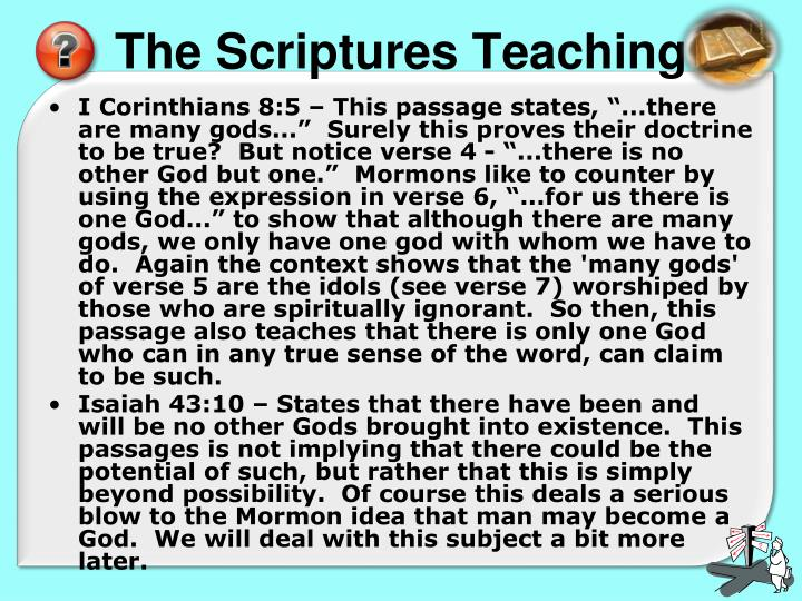 The Scriptures Teaching