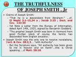 the truthfulness of joseph smith jr