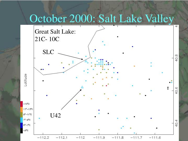 October 2000: Salt Lake Valley