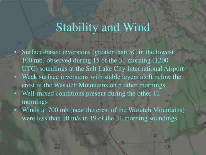 Stability and Wind