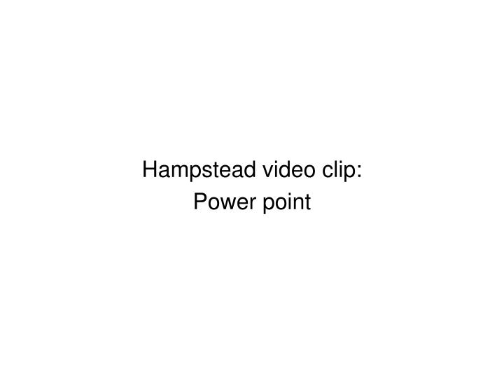 Hampstead video clip: