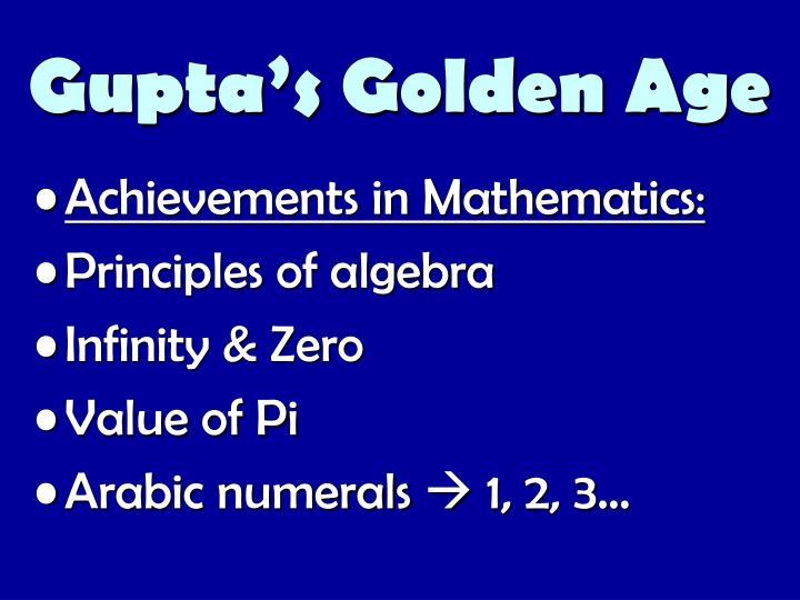 Gupta's Golden Age