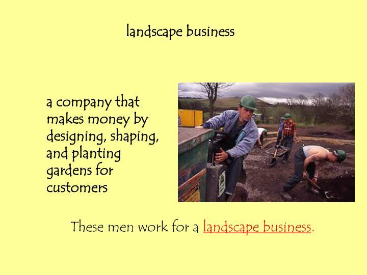 landscapebusiness