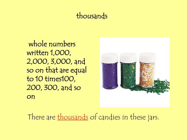 thousands
