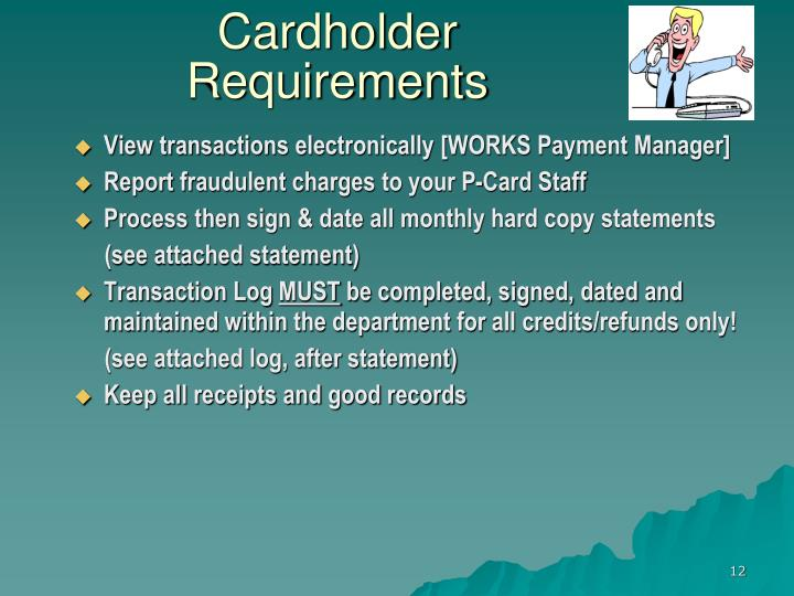 Cardholder Requirements