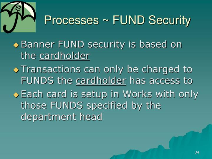 Processes ~ FUND Security