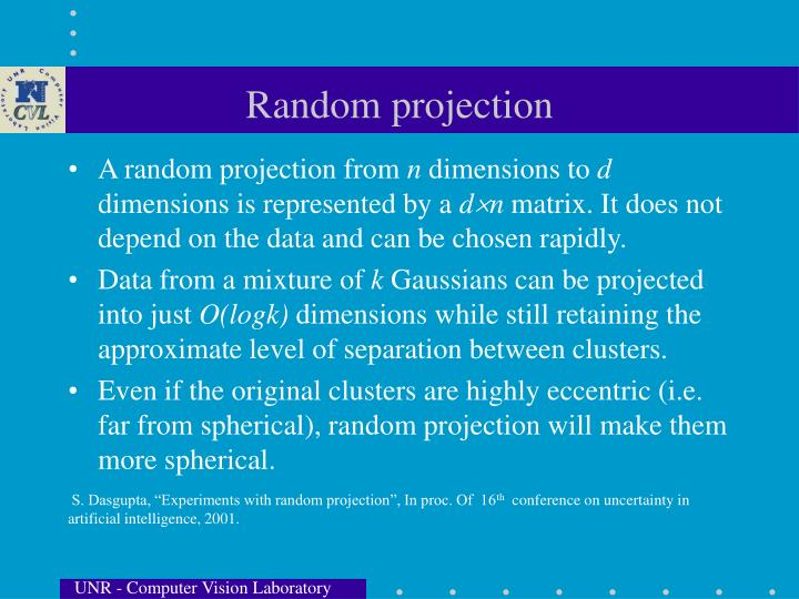 Random projection