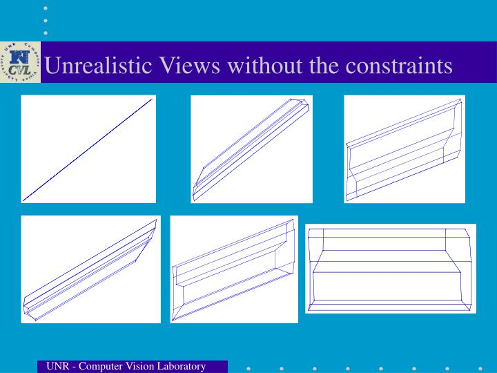 Unrealistic Views without the constraints