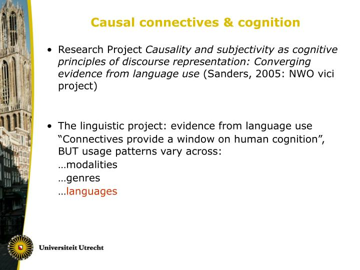 Causal connectives & cognition