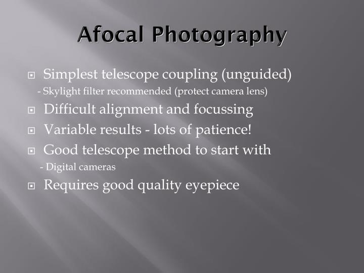 Afocal Photography