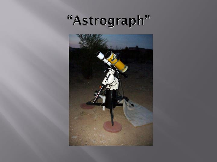 """Astrograph"""