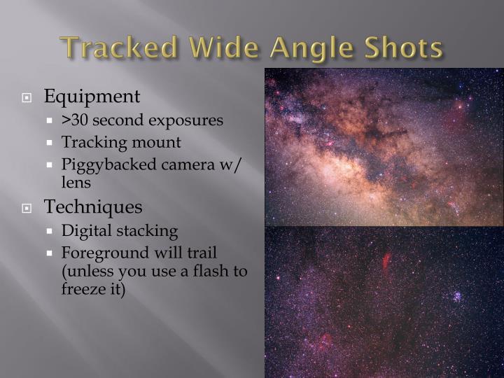 Tracked Wide Angle Shots