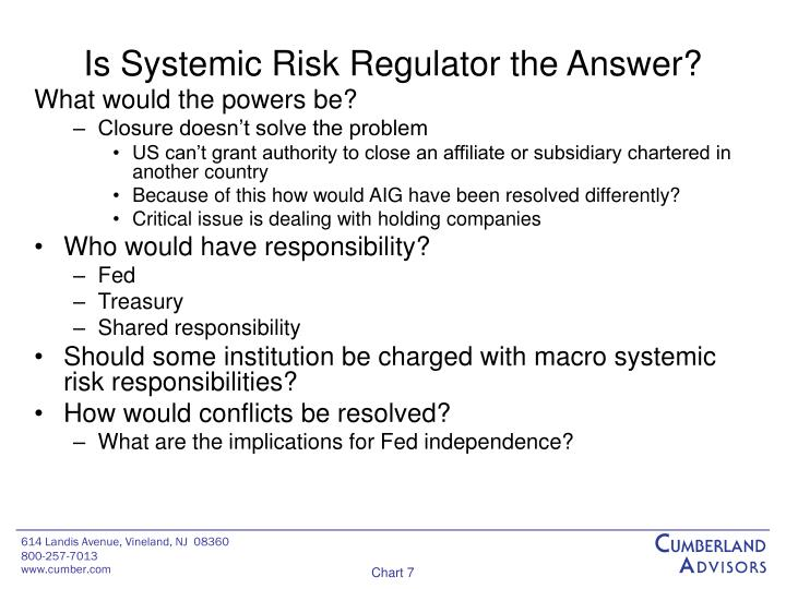 Is Systemic Risk Regulator the Answer?