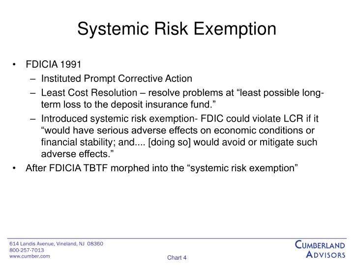 Systemic Risk Exemption