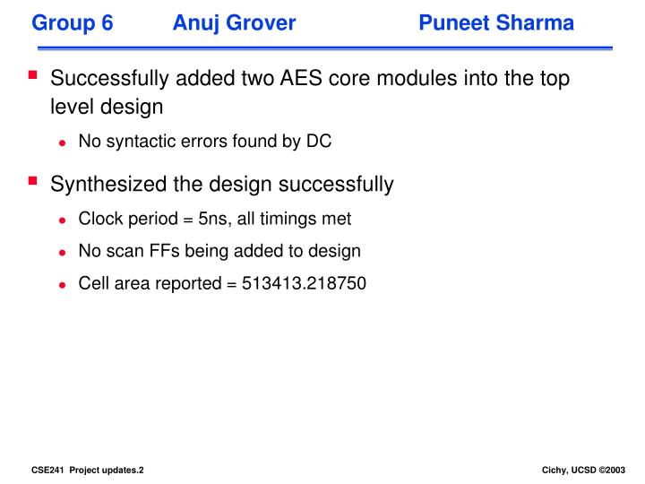 Group 6 anuj grover puneet sharma