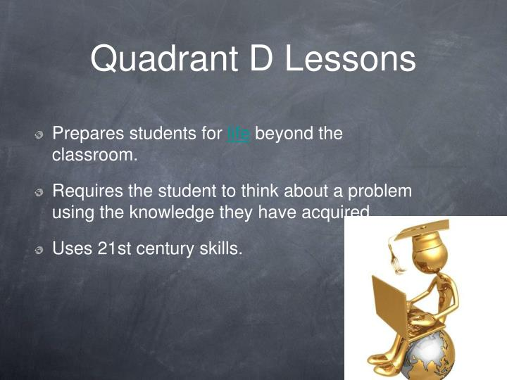 Quadrant D Lessons