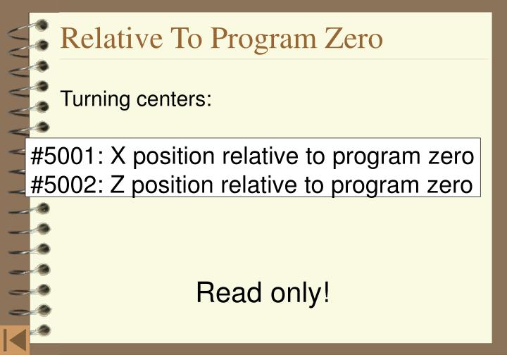 Relative To Program Zero