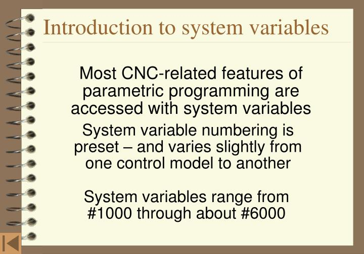 Introduction to system variables