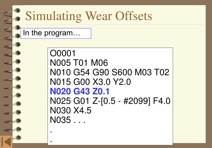 Simulating Wear Offsets