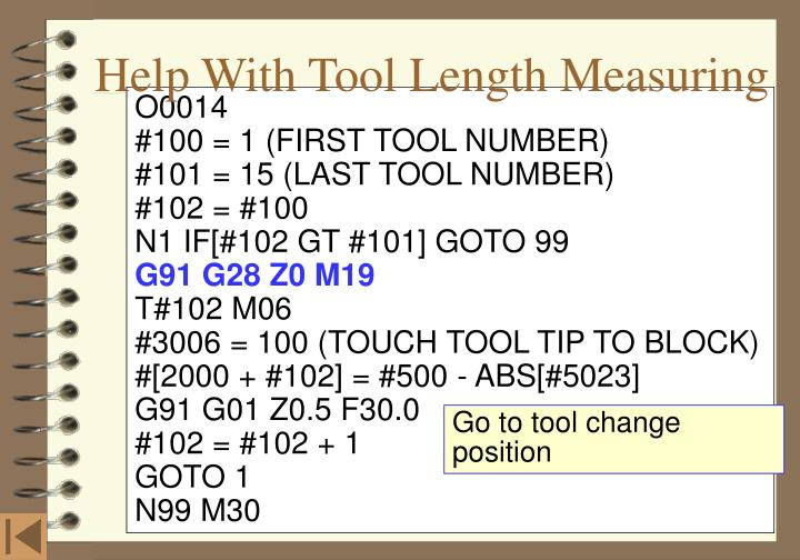 Help With Tool Length Measuring