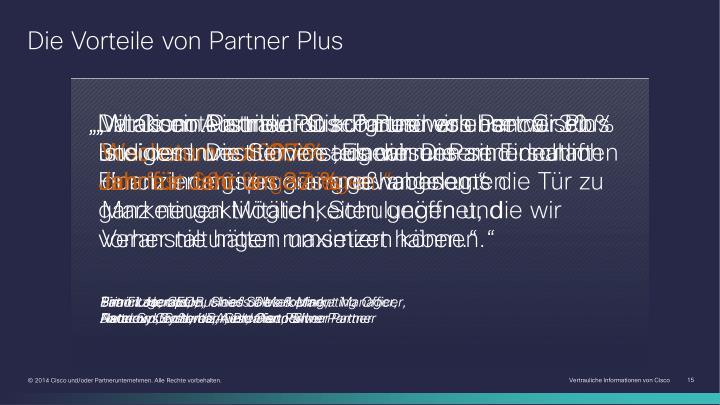 Die Vorteile von Partner Plus