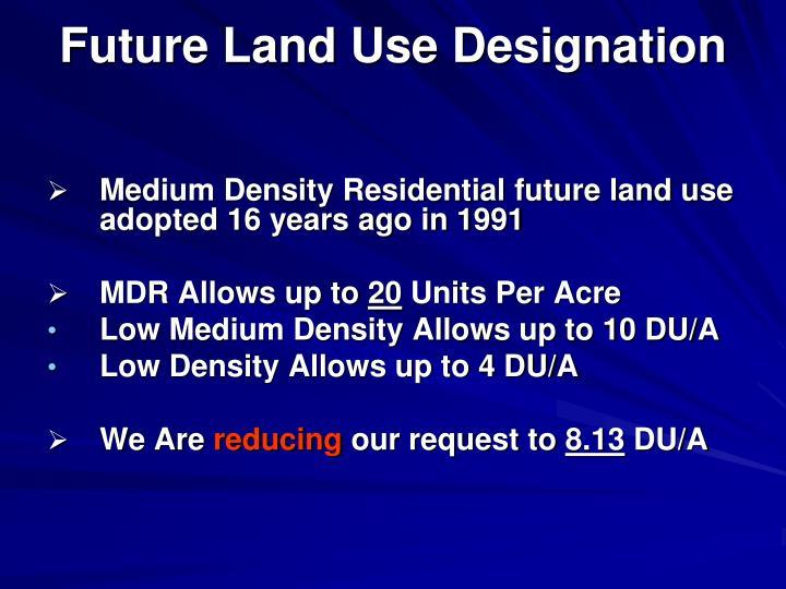 Future Land Use Designation