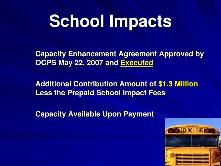 School Impacts