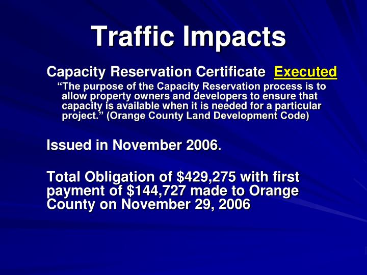 Traffic Impacts