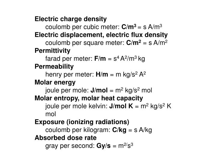 Electric charge density