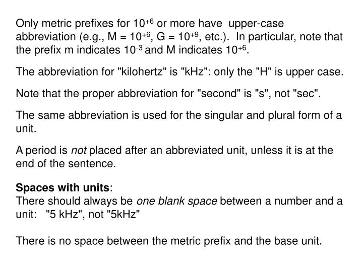 Only metric prefixes for 10