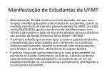 manifesta o de estudantes da ufmt