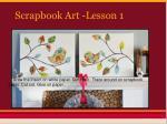 scrapbook art lesson 1
