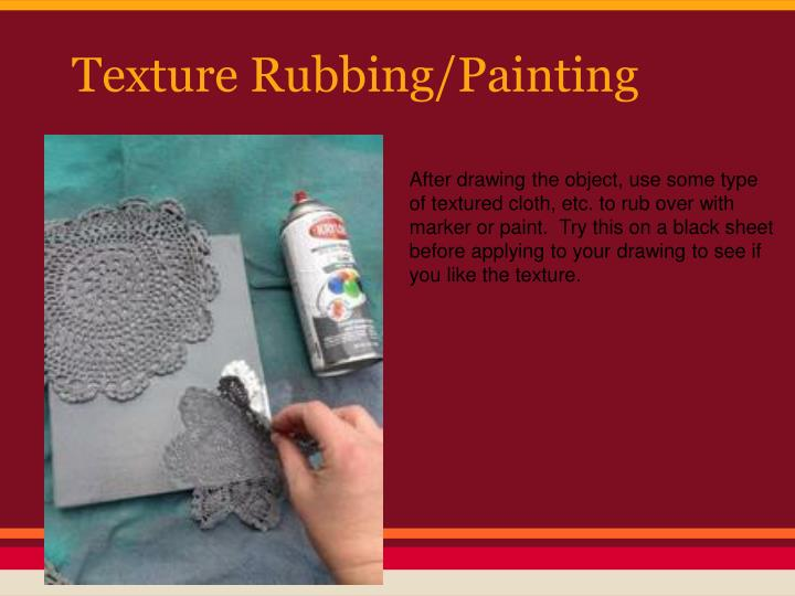 Texture Rubbing/Painting