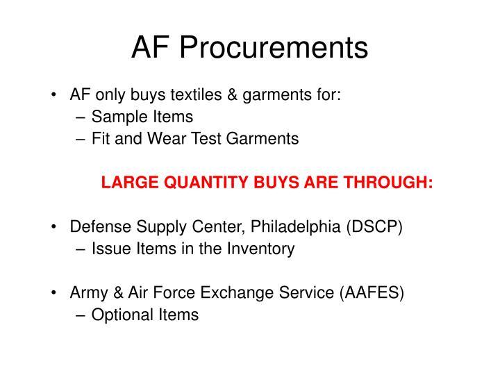 AF Procurements