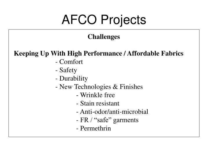 AFCO Projects