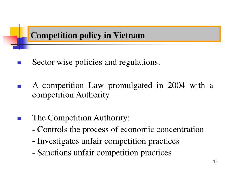 Competition policy in Vietnam