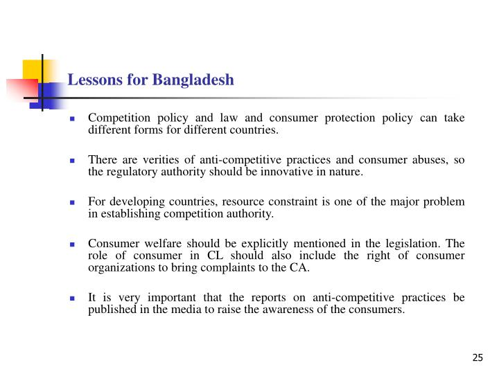 Lessons for Bangladesh